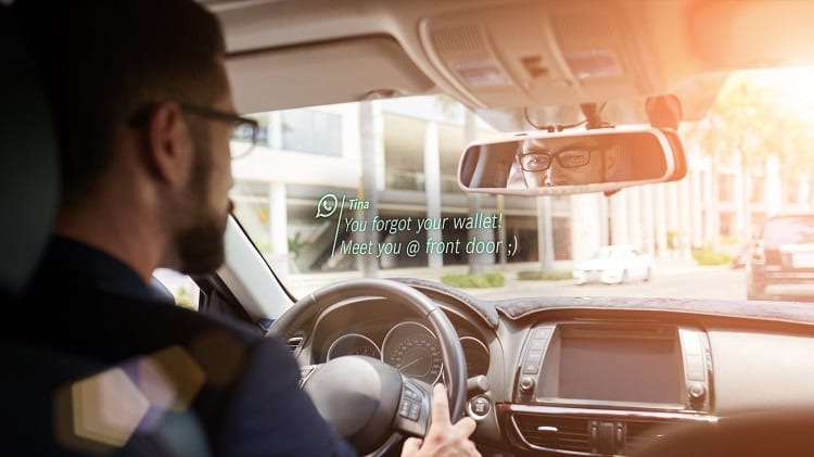 Driving E Car With Smart Glass