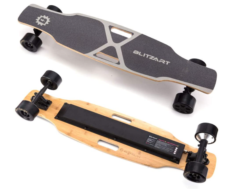 Blitzart-Skateboard-With-Brushless-Hub-Motor-Wheel